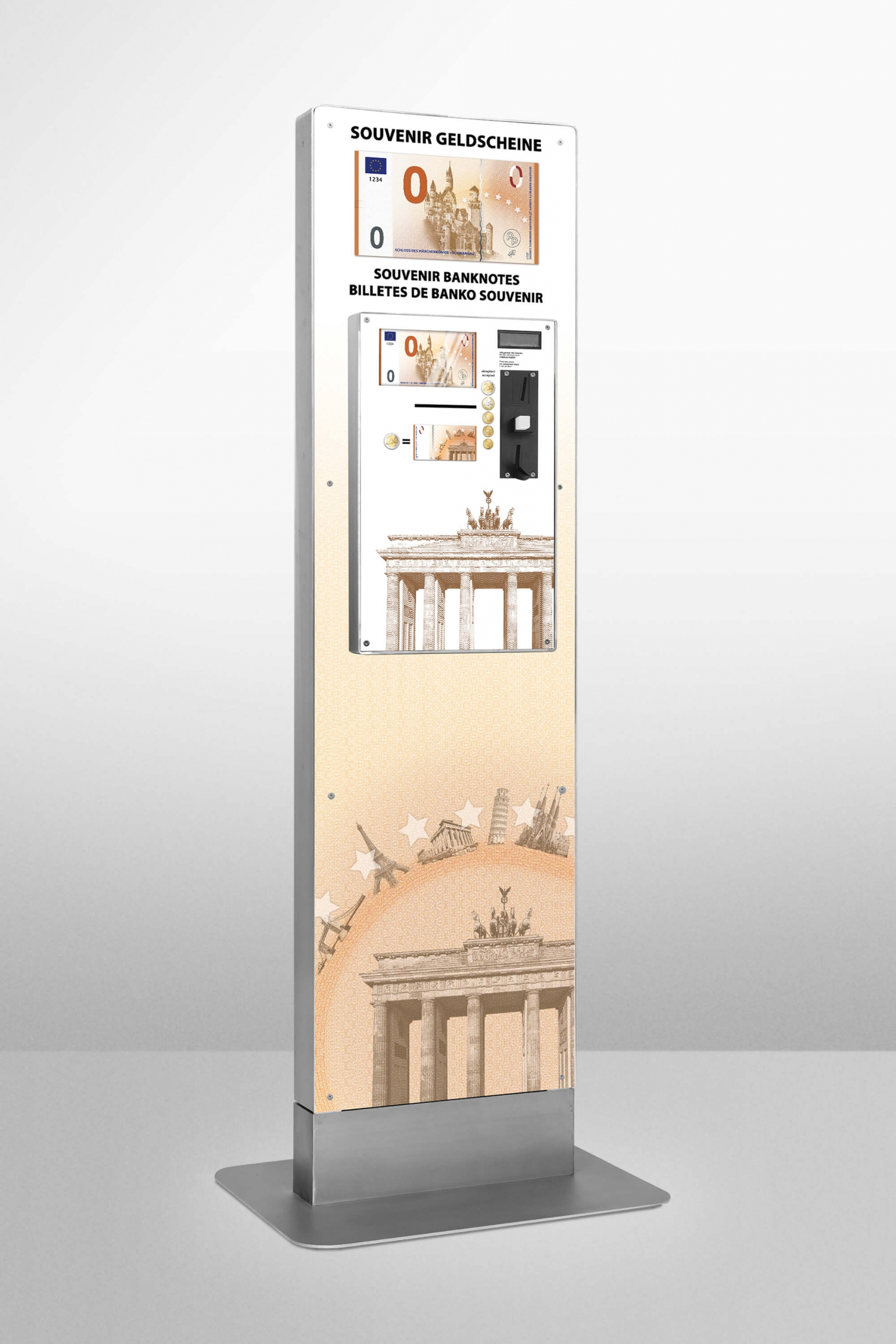 Souvenir banknote dispenser by Penny Press Europe