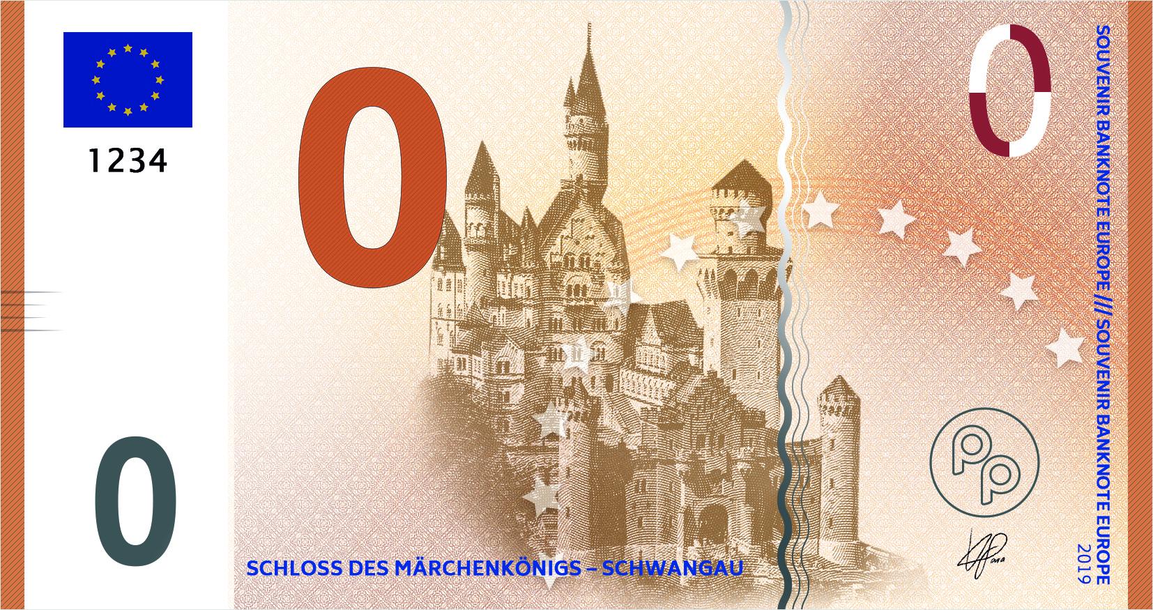 Souvenir-Geldschein von Penny Press Europe (Motivseite)