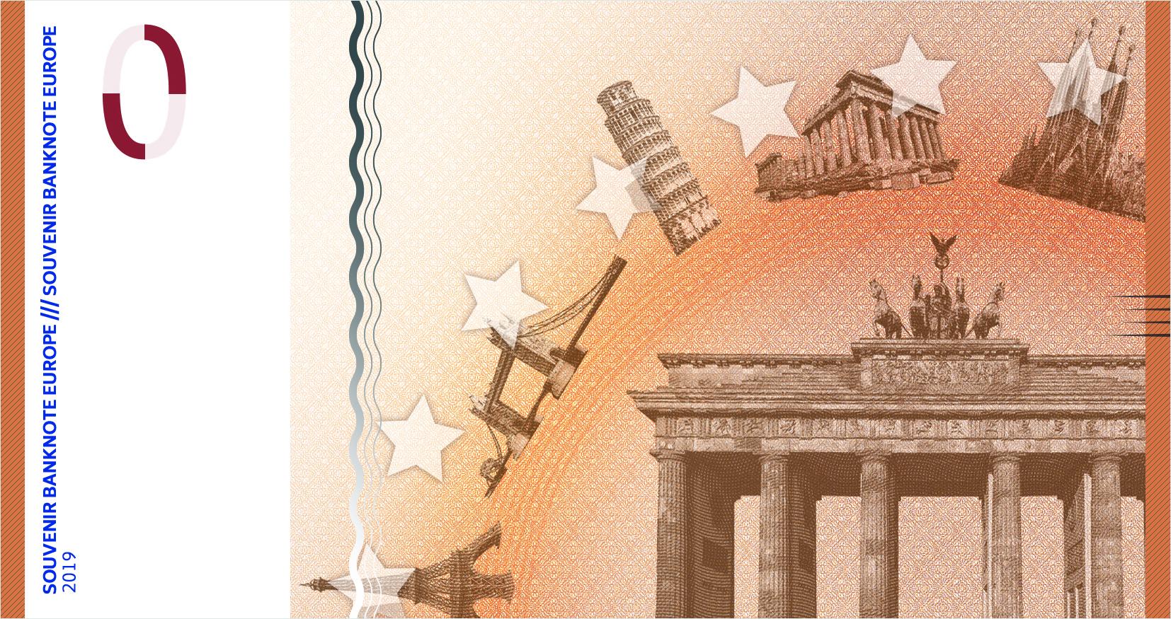 Souvenir-Geldschein von Penny Press Europe (Rückseite)